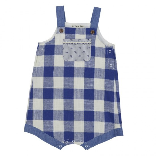Arthur Ave Blue Check Overalls