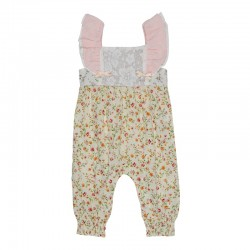 Arthur Ave Tiny Rose Floral Overalls
