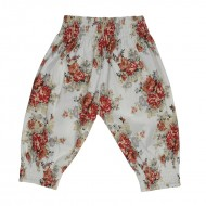 Arthur Ave Red Floral Gypsy Pants