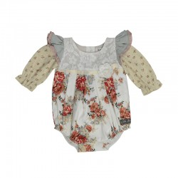 Arthur Ave Red Floral Playsuit