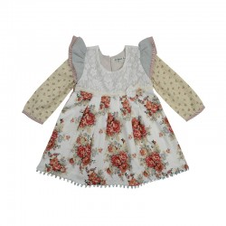 Arthur Ave Red Floral Long Sleeve Play Dress