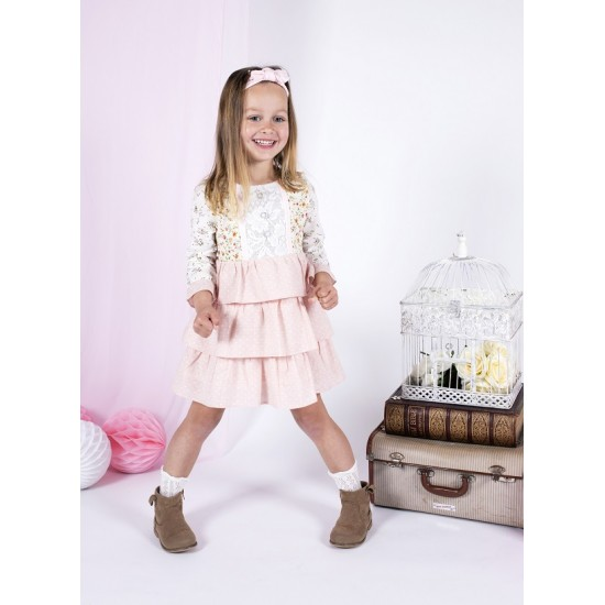 Arthur Ave Tiny Rose Long Sleeve Layered Dress