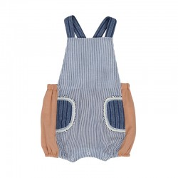 Arthur Ave Denim Stripe Pocket Overalls