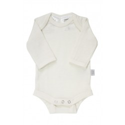 Babu Merino Premature Baby Bodysuit in Cream