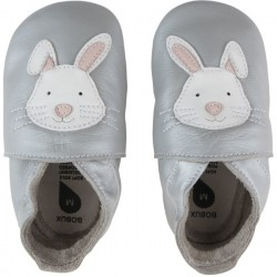 Bobux Soft Sole Rabbit Silver