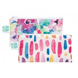 Bumkins Snack Bag   2pk  Watercolour/Brush Strokes