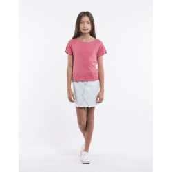 Eve Girl Take Me Away Tee Slate Rose   10 - 16y