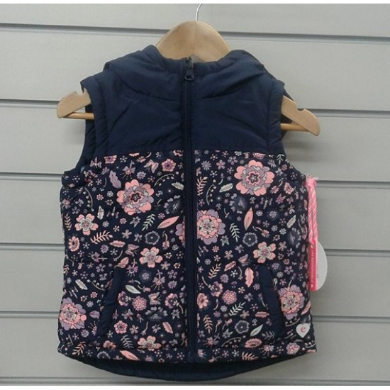 Eve's Sister Elsie Reversible Puffa Vest      *** Sizes 14 ***