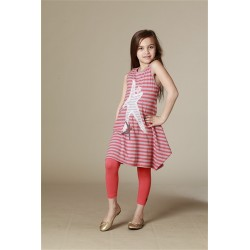 KidCuteTure | Leggings - 3/4 - Coral