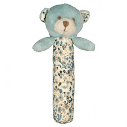 Lily and George Barnie Bear Stick Rattle   -  WLG-776