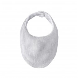 Lily and George Muslin Bib | Grey