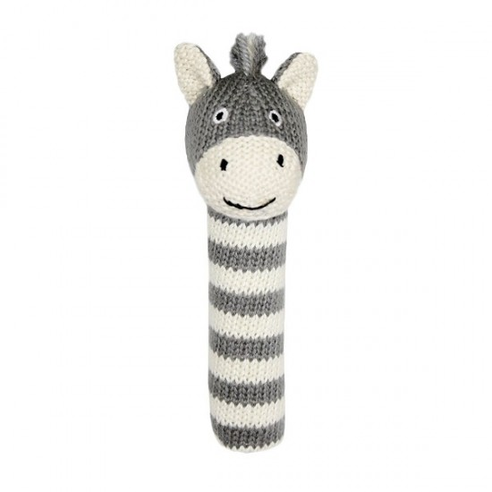 Lily and George Bowie Zebra Rattle