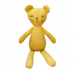 Lily and George Linen Bear Toy | Mustard