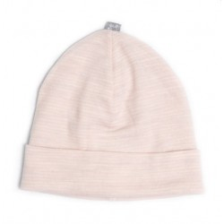 Linzi Merino Beanie in Heavenly Pink Stripe