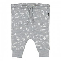 Little Flock of Horrors Merino     Asher Drop Crotch Pant - Scribble
