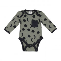 Little Flock of Horrors Merino  |  Blake Bodysuit Olive Cosmos