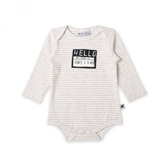 Minti Baby My Name is Awesome Onesie
