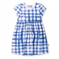 Minti Painted Gingham Dress     ***  Sizes  7y and 10y  ***