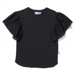 Minti Lacy Tee in Black