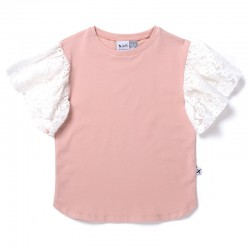 Minti Lacy Tee in Blush Pink