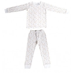 NIOVI Organics Gold Autumn Leaves Kids PJ Set