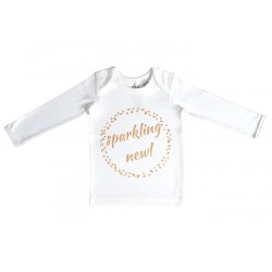 NIOVI Organics Gold Sparkling New Baby Long Sleeve Tee