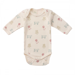 Nature Baby Longsleeve Body Suit - Nature Print