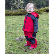 Puddle Jumpers Lined Jacket in Red/Navy