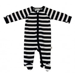 Pureborn Organic Cotton Black Stripe All-In-One
