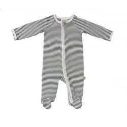 Pureborn Organic Cotton Grey Stripe All-In-One