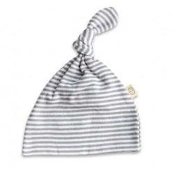 Pureborn Organic Cotton Grey Stripe Knotted Beanie