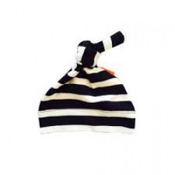 Pure Born Organic | Loaded Nappy Knotted Beanie in Black/Natural Stripe