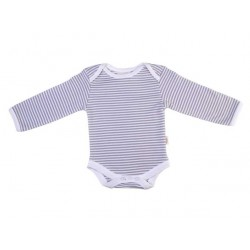 Pureborn Organic Cotton Grey Stripe Longsleeve Body Suit