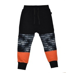 Radicool Dude  |  STACKED PANT in BLACK OUT and PAPRIKA   *** Size 12y  ***