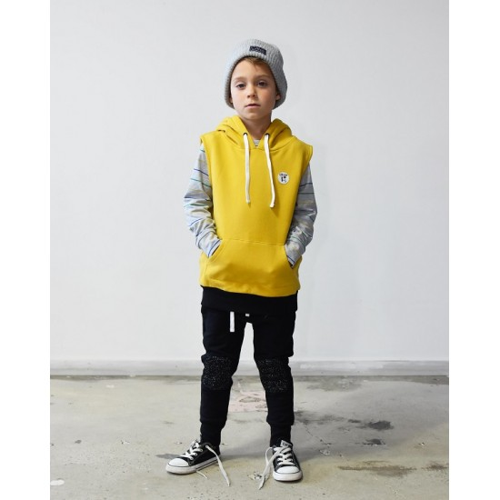 Rad Tribe  | TRIBE SLEEVELESS HOOD in GOLD      ***  Size 7 and 8y  ***