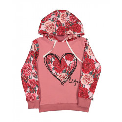 Kissed by Radicool | KR1421 ROSES HEART LIFE HOOD