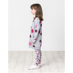 Kissed by Radicool | KR1450 WINTER BERRY POLKA DOT SWEATER DRESS