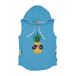 Kissed by Radicool  COOL PINEAPPLE SLEEVELESS HOOD