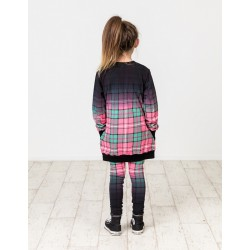 Kissed by Radicool | Dip Dye Plaid Crew