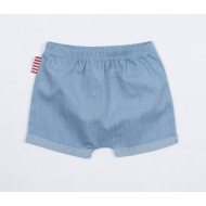 SOOKIbaby Kid Roll Cuff Shorts |Chambray