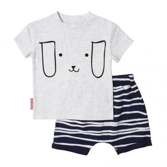 SOOKIbaby Puppy Face Tee and Shorts Set