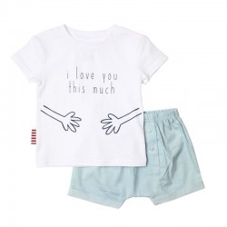 SOOKIbaby This Much Tee and Shorts Set