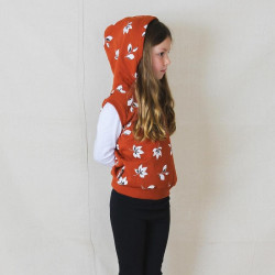 Tiny Tribe | Fall Leaf Hooded Vest
